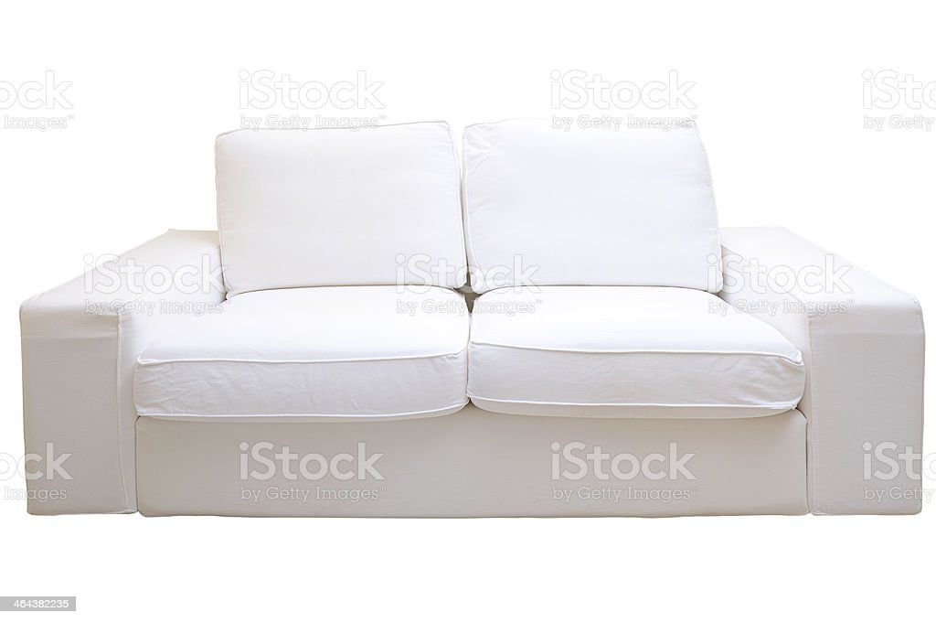 Sofa with clipping path royalty-free stock photo