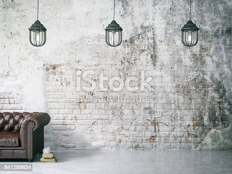 istock Sofa with Dirty Wall 841289834