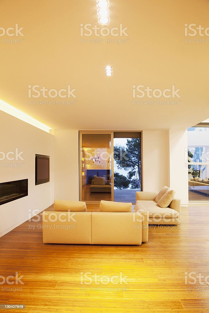 Sofas in modern living room royalty-free stock photo