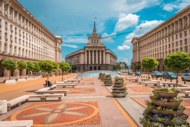 Sofia, Bulgaria - 10.13.2018 : Independence square stock photo
