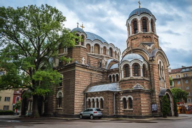 Sofia, Bulgaria - 10.13.2018 : The Seventh' Saints Church stock photo