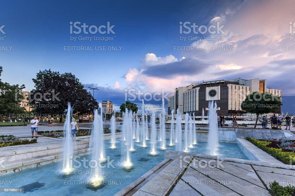 Sofia, Bulgaria, July 3, 2016: National Palace of Culture stock photo