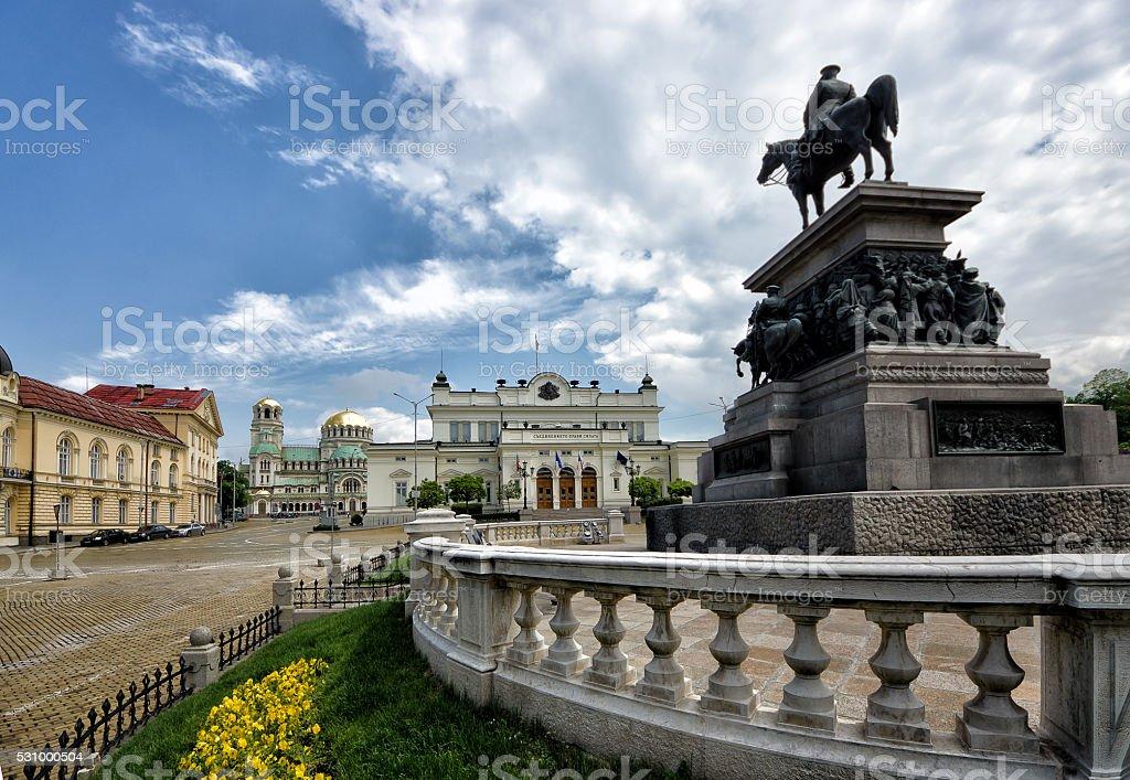 Piazza del parlamento di sofia bulgaria fotografie stock for Immagini del parlamento