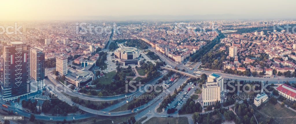 Sofia from above stock photo