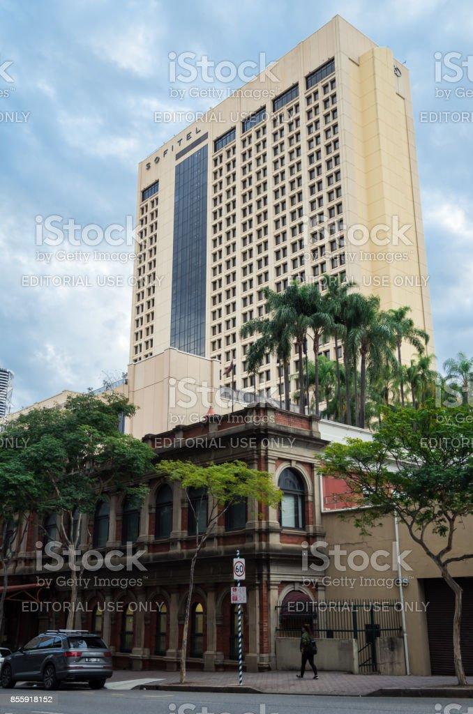 Sofitel Brisbane Central luxury hotel in downtown Brisbane stock photo