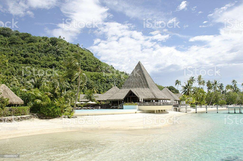 Sofitel Resort Moorea stock photo
