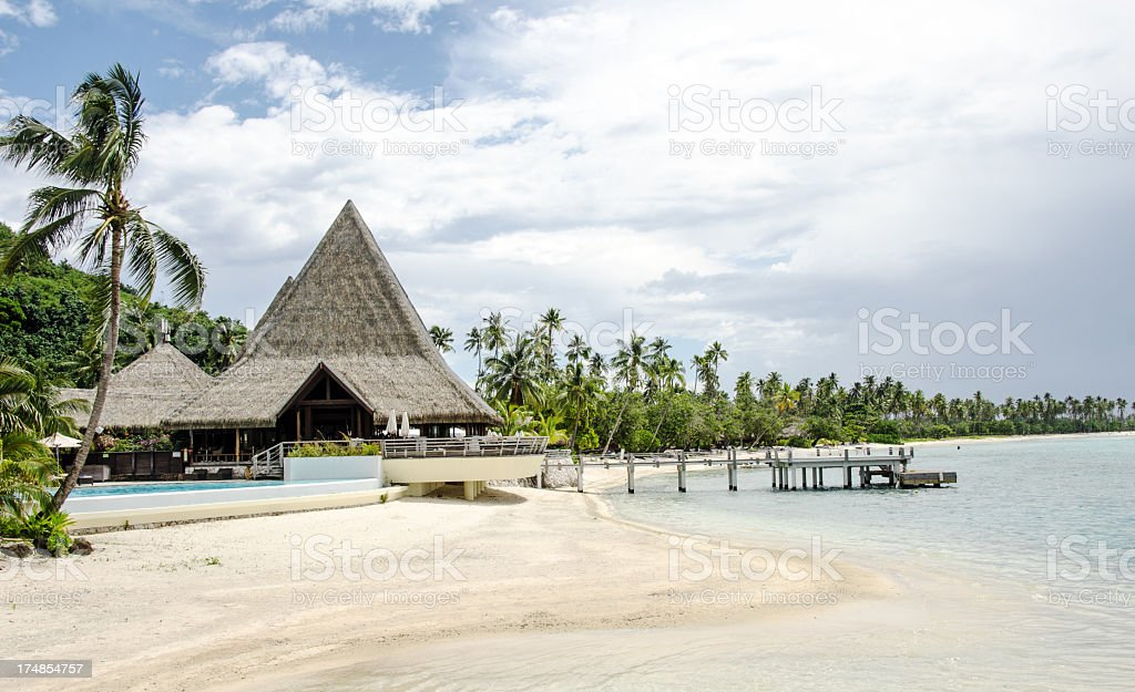 Sofitel Resort Moorea royalty-free stock photo