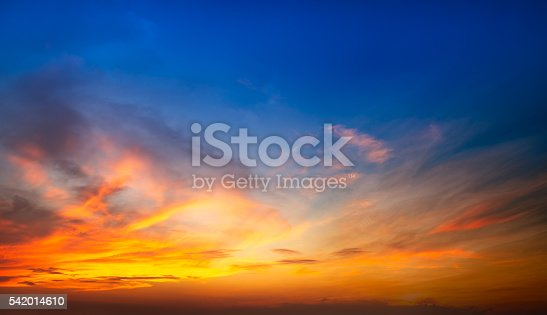 Soft and blur sunlight effect on the sky in sunset time