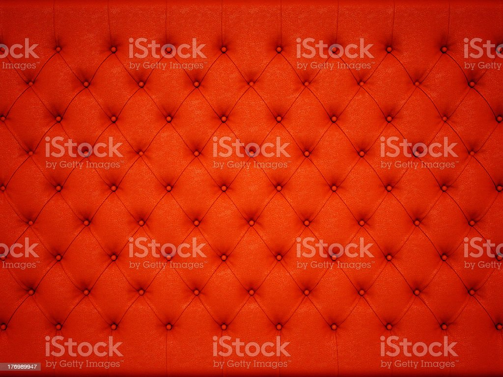 Soft and luxury: Red knobbed leather pattern stock photo
