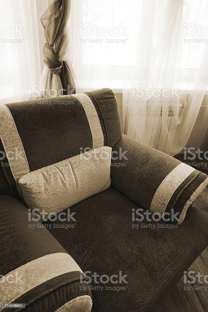 soft armchair royalty-free stock photo