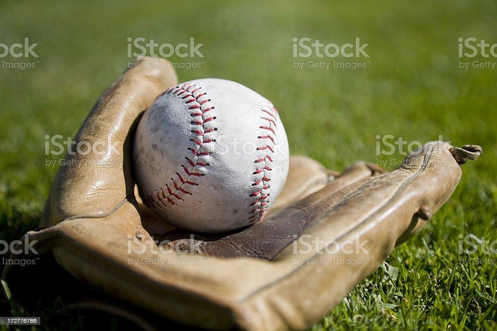 Soft ball and Mitt royalty-free stock photo
