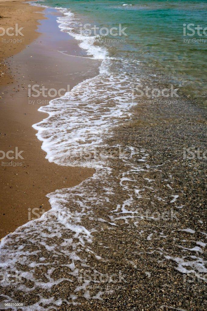 Soft beautiful ocean wave on sandy beach - Royalty-free Beach Stock Photo