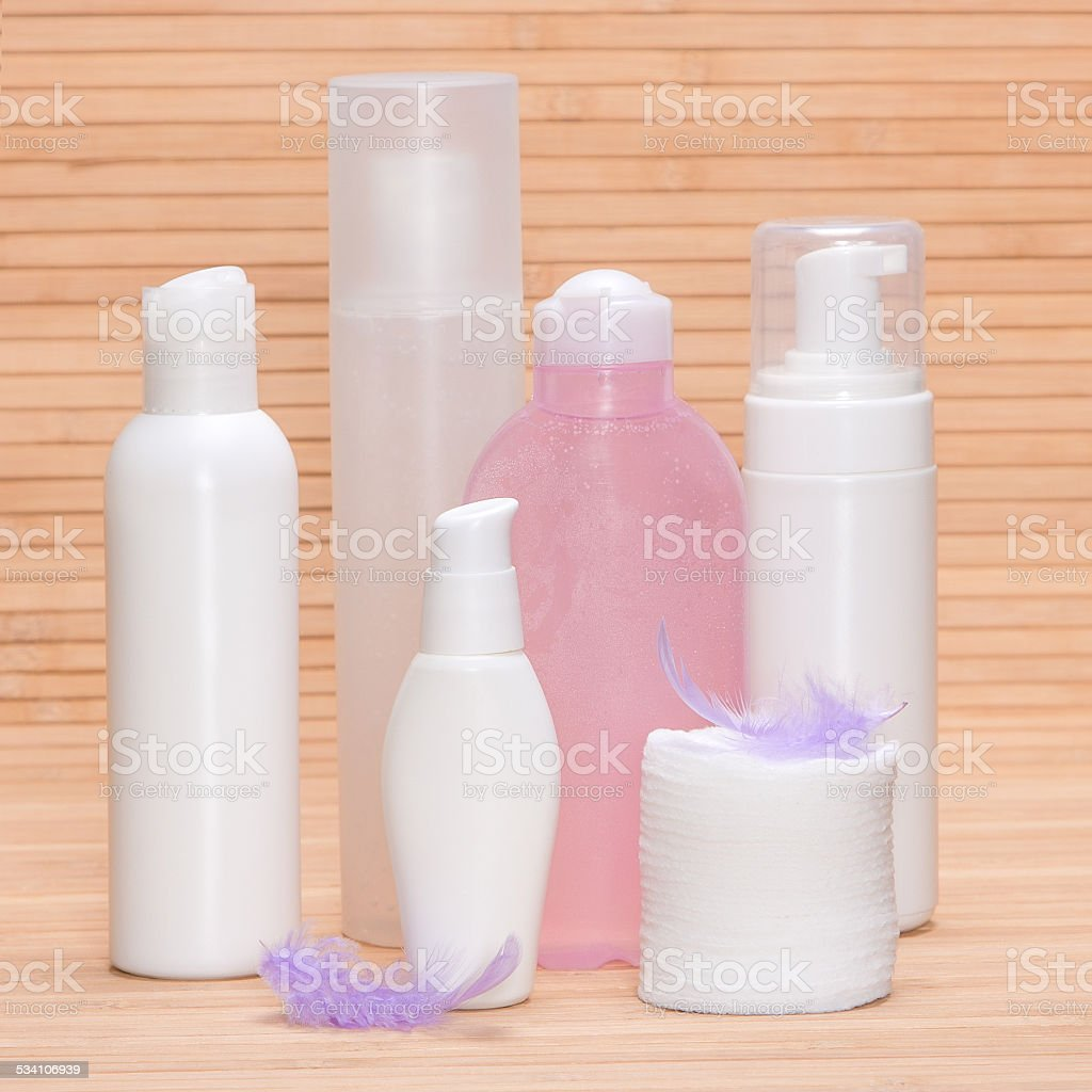 Soft beauty products for sensitive skin stock photo