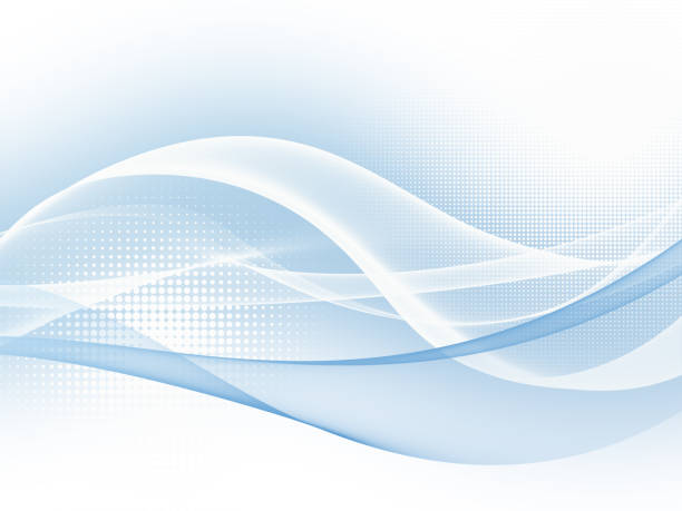 soft blue abstract business graphic wave background - wave stock photos and pictures