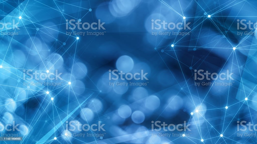 Cyber threats digital wires polygonal lines communication future,...