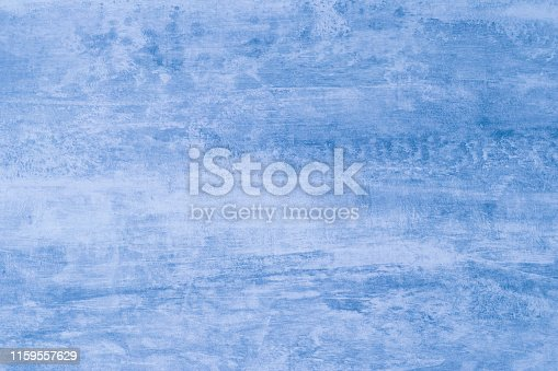 istock Soft blue color mockup. Abstract blue background with paint stains. Blots on canvas, backdrop. Illustration. Pattern of watercolor texture. Template with light gradient. Creative modern artistic backdrop. 1159557629