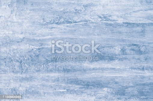 istock Soft blue pattern on canvas. Pastel background of watercolor mockup. Template with gradient of light blue texture. Paint stains, splash. Dirty blots on creative artistic backdrop. Aquarelle blurred background. 1155664945