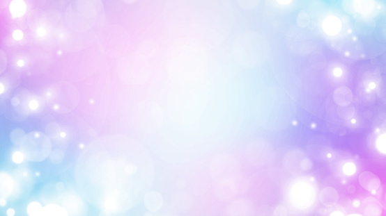 Soft blue, purple and white abstract gradient bokeh background