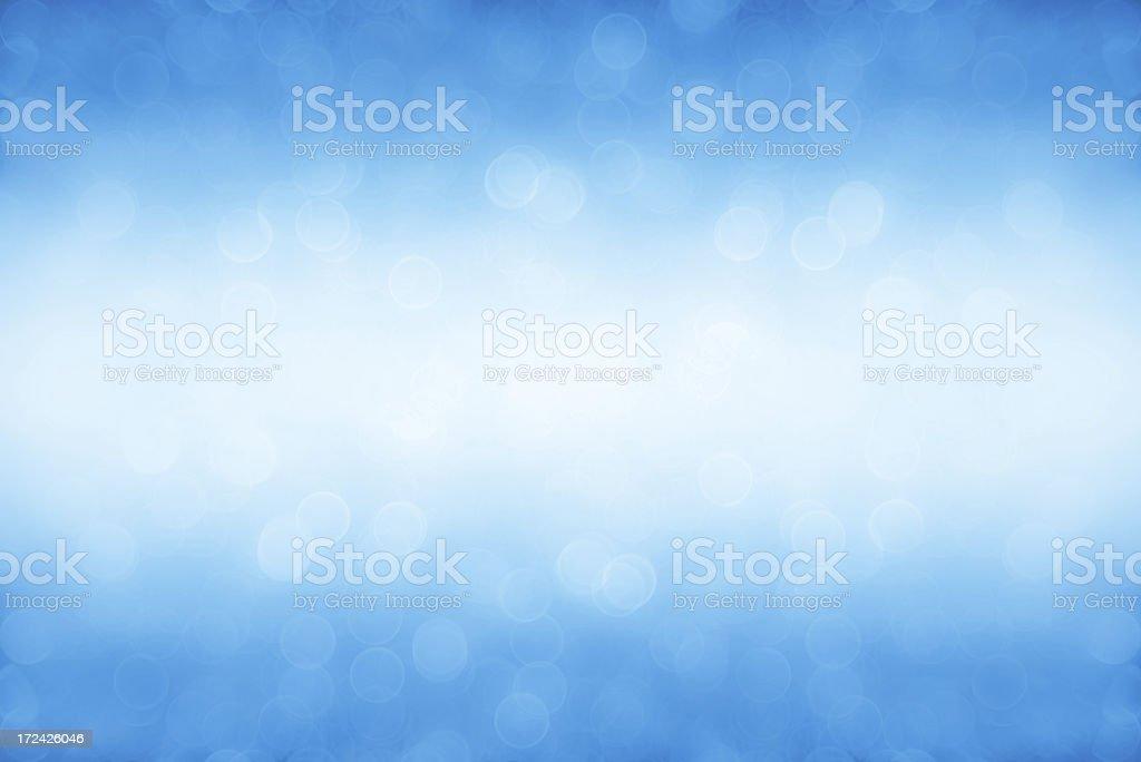 Soft blue sparkles stock photo