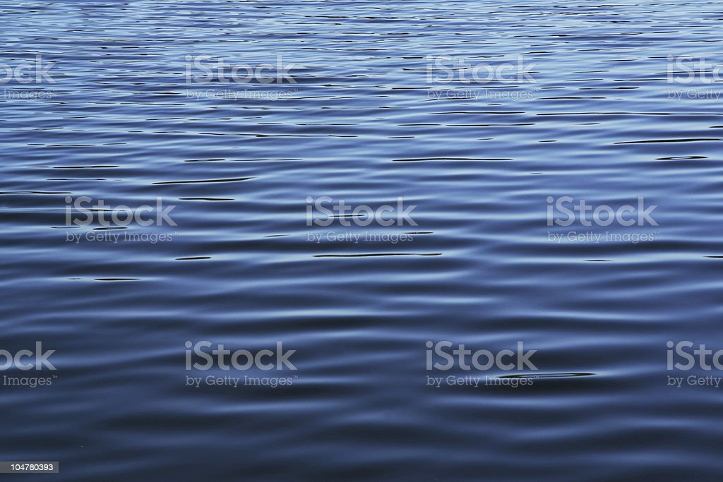 Soft blue waves - water surface on sea stock photo