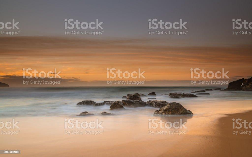 Soft Bronze Sunrise Seascape stock photo