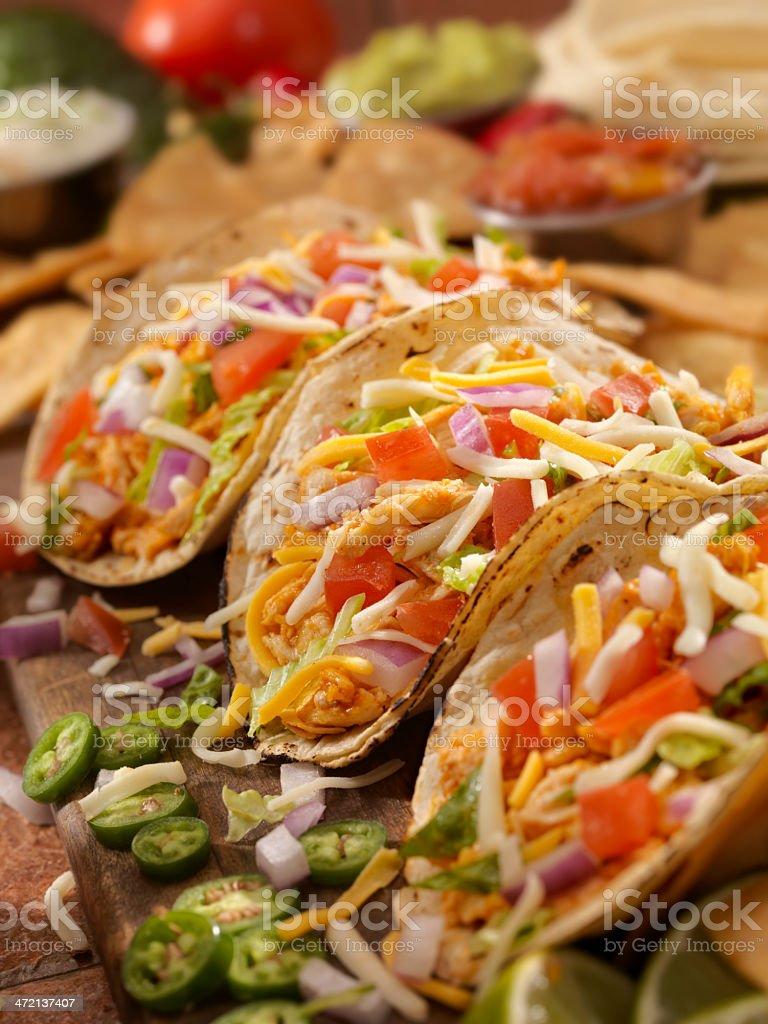 Soft Chicken Tacos stock photo
