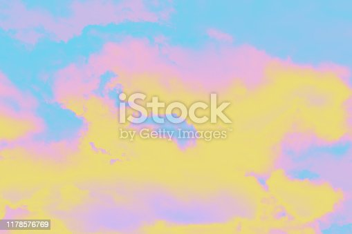 917116520 istock photo A soft cloud background with a pastel colored pink to blue. 1178576769