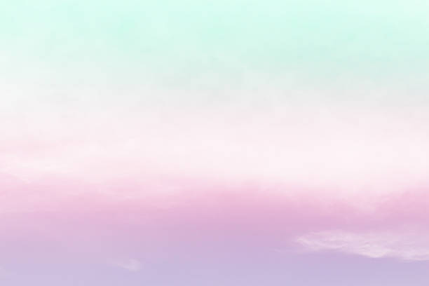 soft cloud background with gradient colorful - pastel colored stock pictures, royalty-free photos & images