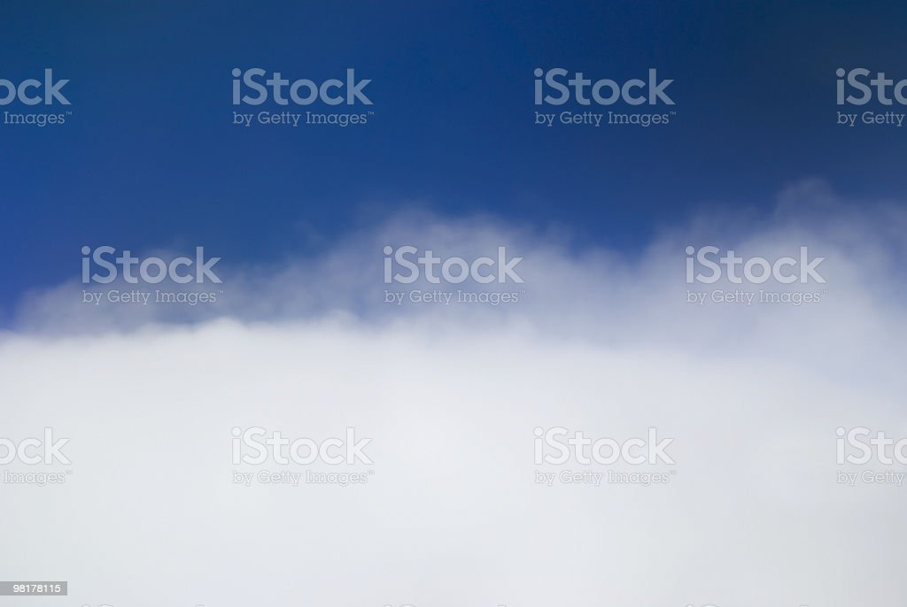 Soft Clouds Blue Sky Background royalty-free stock photo