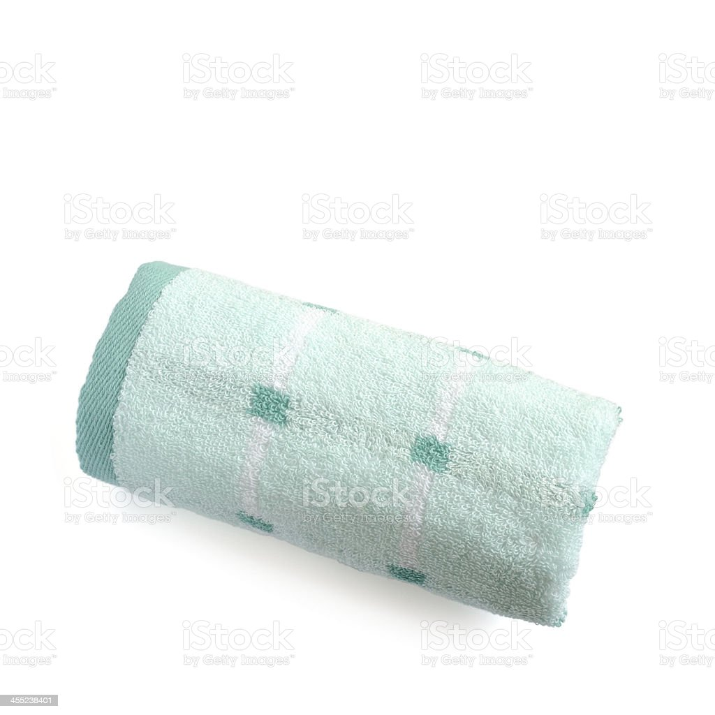 Soft cotton towel isolated stock photo