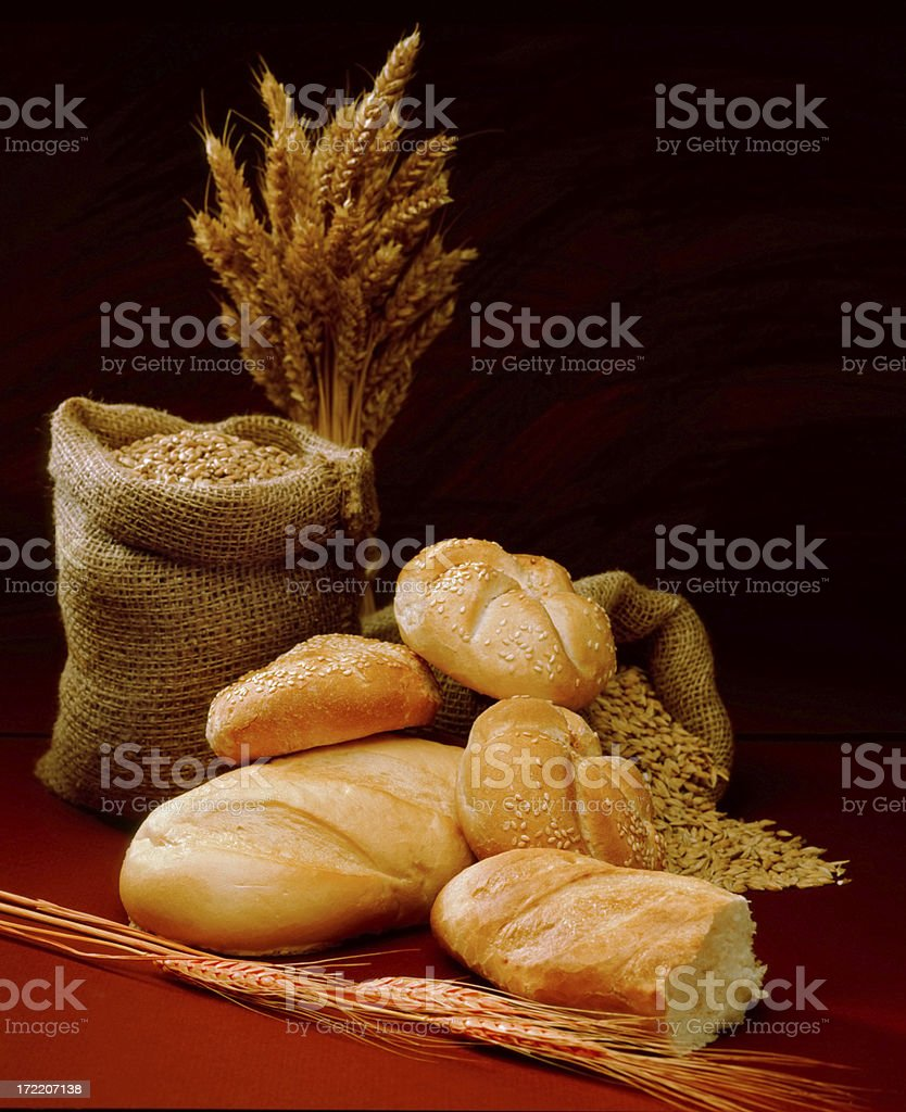 Soft Design with Bread royalty-free stock photo