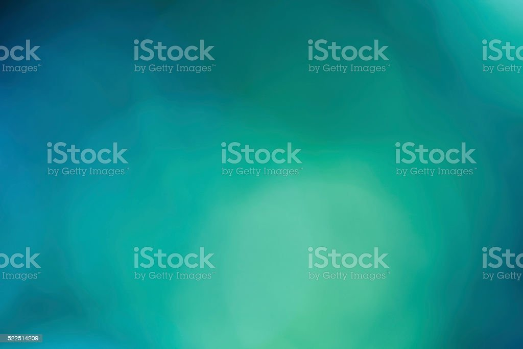 Soft & Dreamy Bokeh Background - Green & Blue stock photo