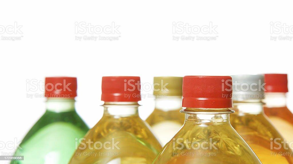 Soft drink bottles royalty-free stock photo