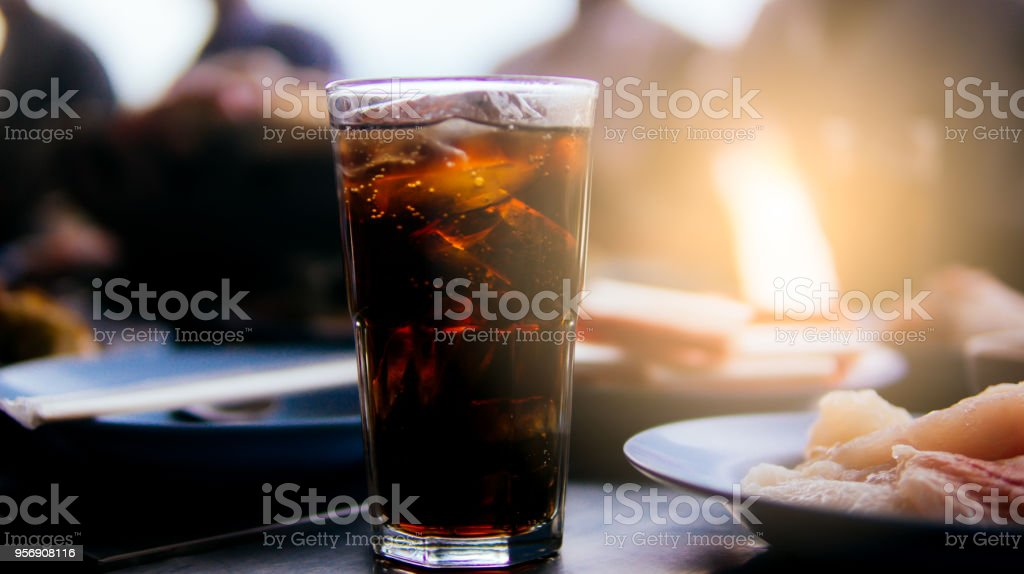 Soft drink in restaurant stock photo