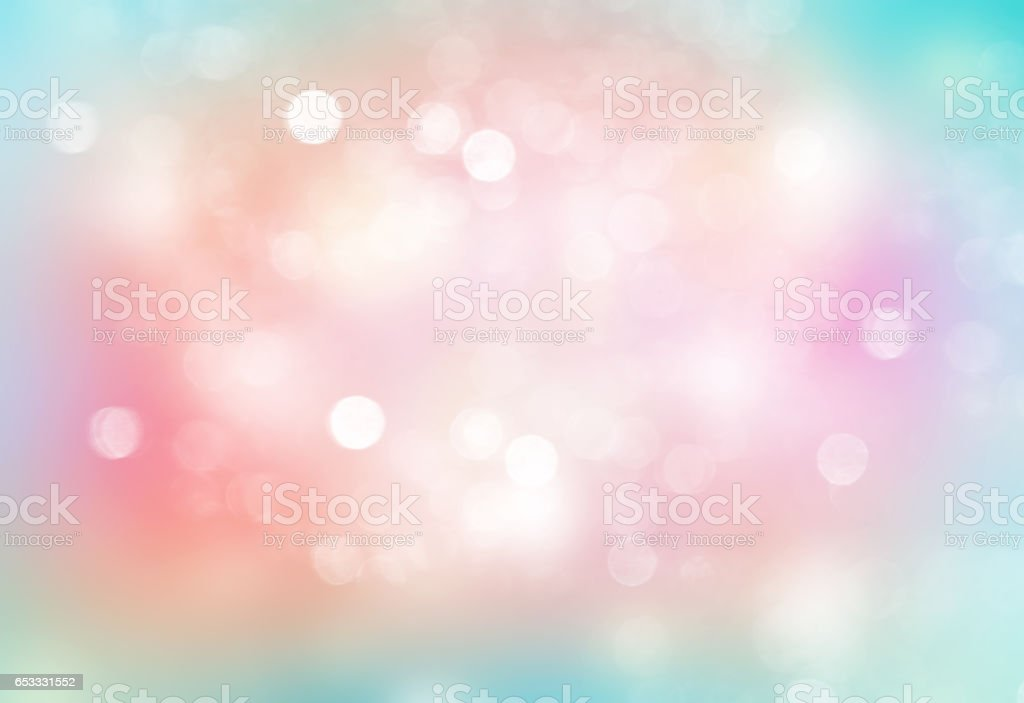 Soft Easter rainbow colors blurred background. stock photo