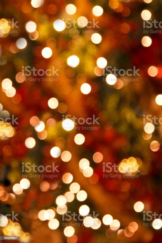 Soft Focus Christmas Tree Lights Vertical Background royalty-free stock photo