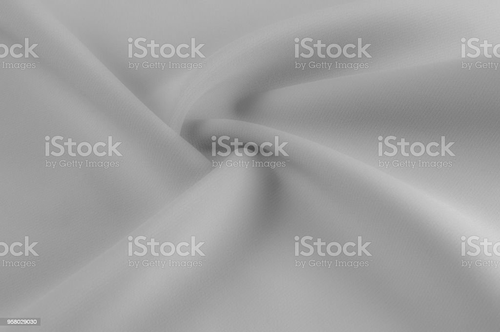 Soft Focus Fabric black silver shades Aluminum color A buzzer and a shine, like a star in the night, with this silver rock. Like the body to the taffeta it has a smooth arm that creates a subtle sheen stock photo