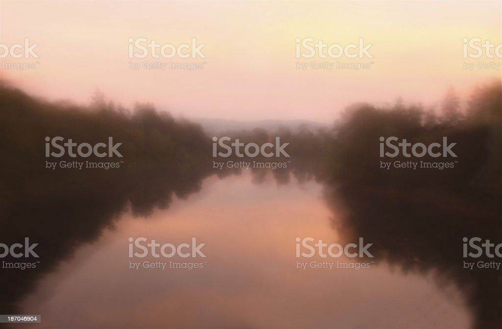 Soft Focus of a Pond in Daguerreotype Photography royalty-free stock photo