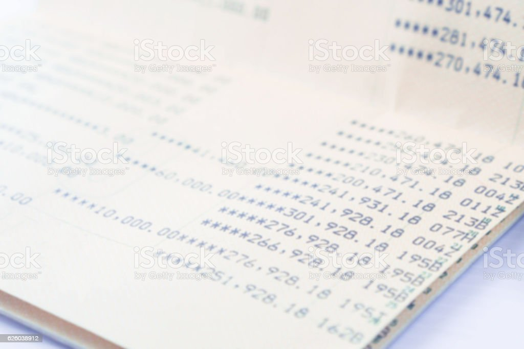soft focus of book bank high income saving abstract background stock photo