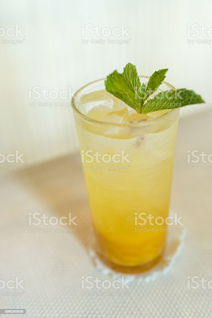 soft focus of mango soda royalty-free stock photo