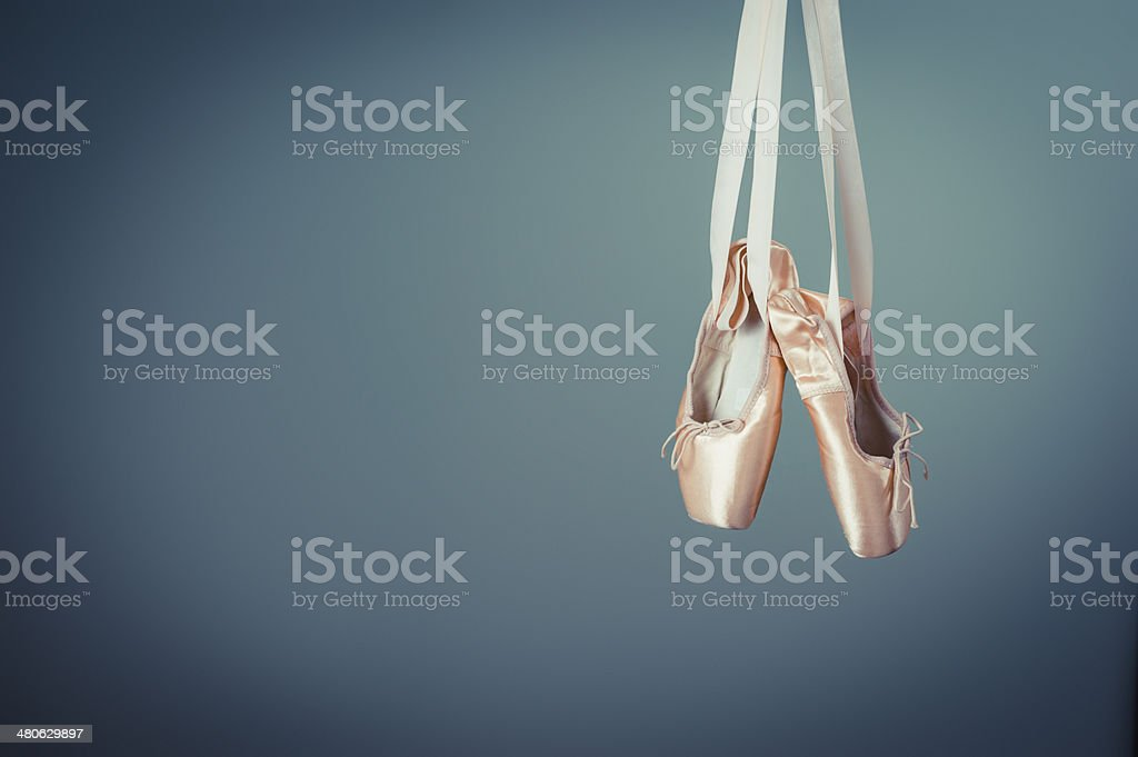 soft focus on ballet slipers stock photo