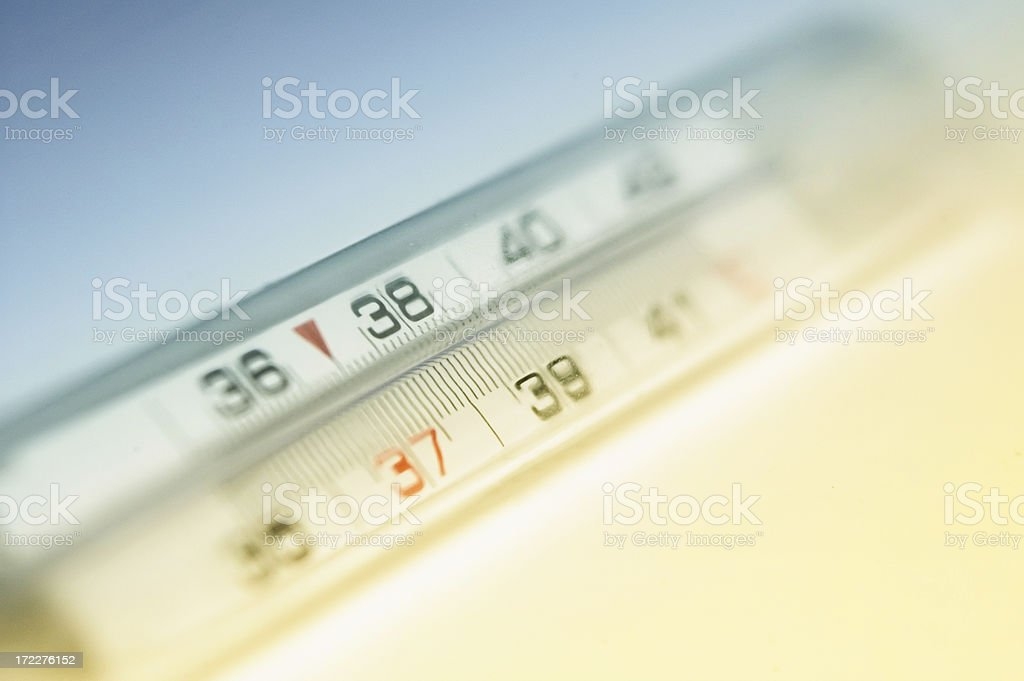 Soft focus thermometer stock photo