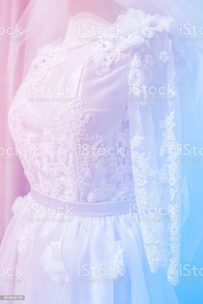 Flou - robe de mariée couleur pastel. photo libre de droits