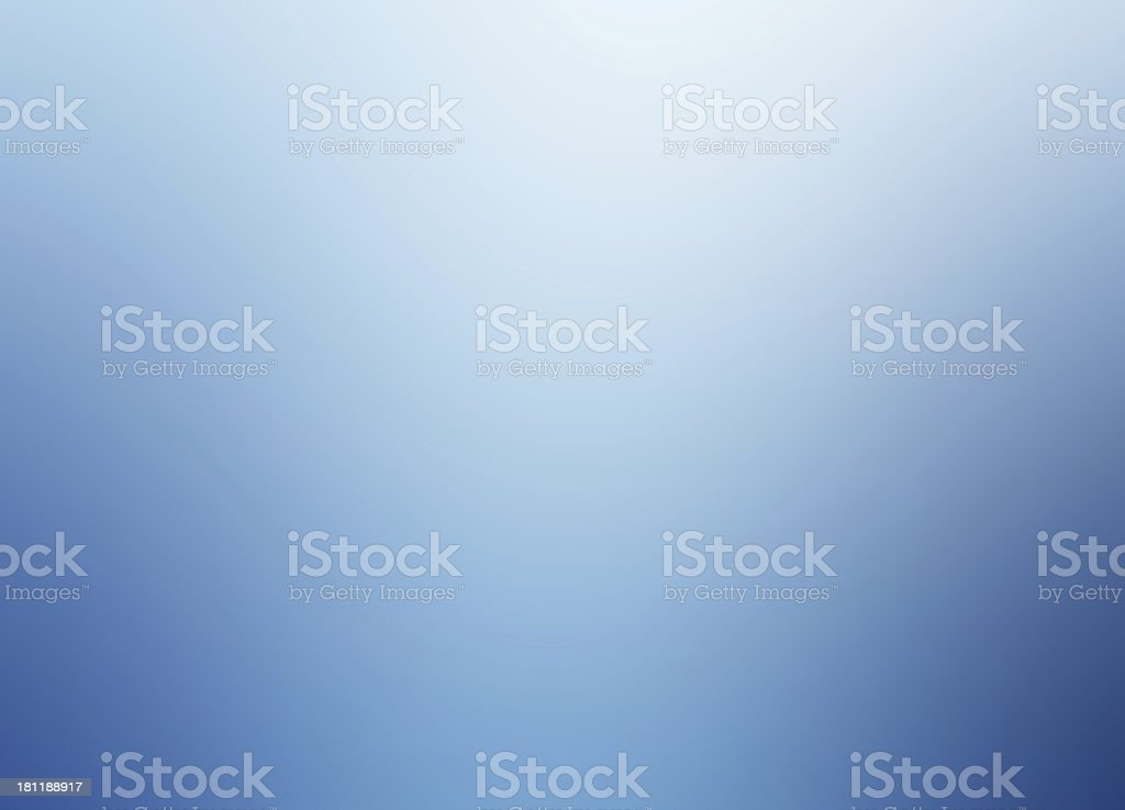A soft gradient abstract blue background stock photo