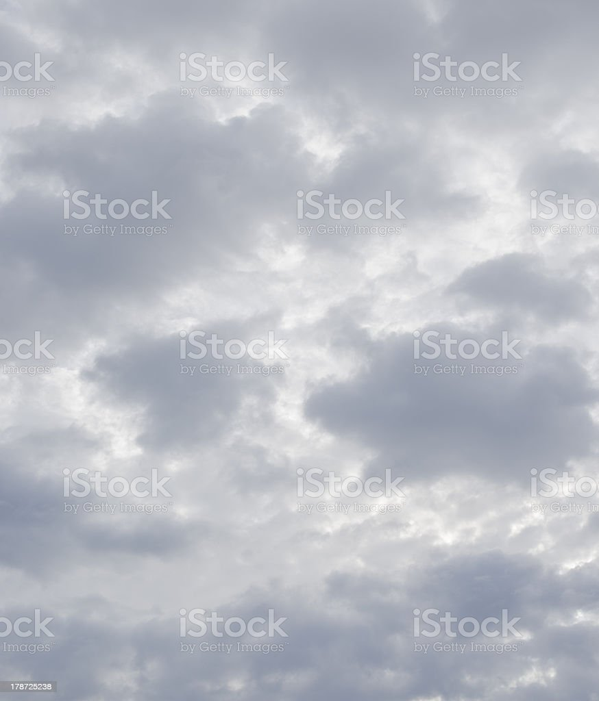 Soft gray clouds stock photo