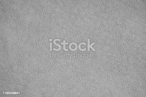 Soft gray hair texture, gray fleece. Warmth and comfort background