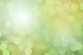 istock Soft green pastel colored lights for Easter or spring season. 925550124