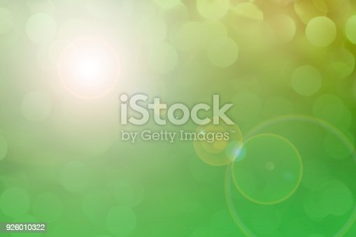 Beautiful, soft pastel colored lights for Easter, nature, or spring season.  Green, yellow and white radial gradients add contrast and depth.  Pastel holiday backgrounds.
