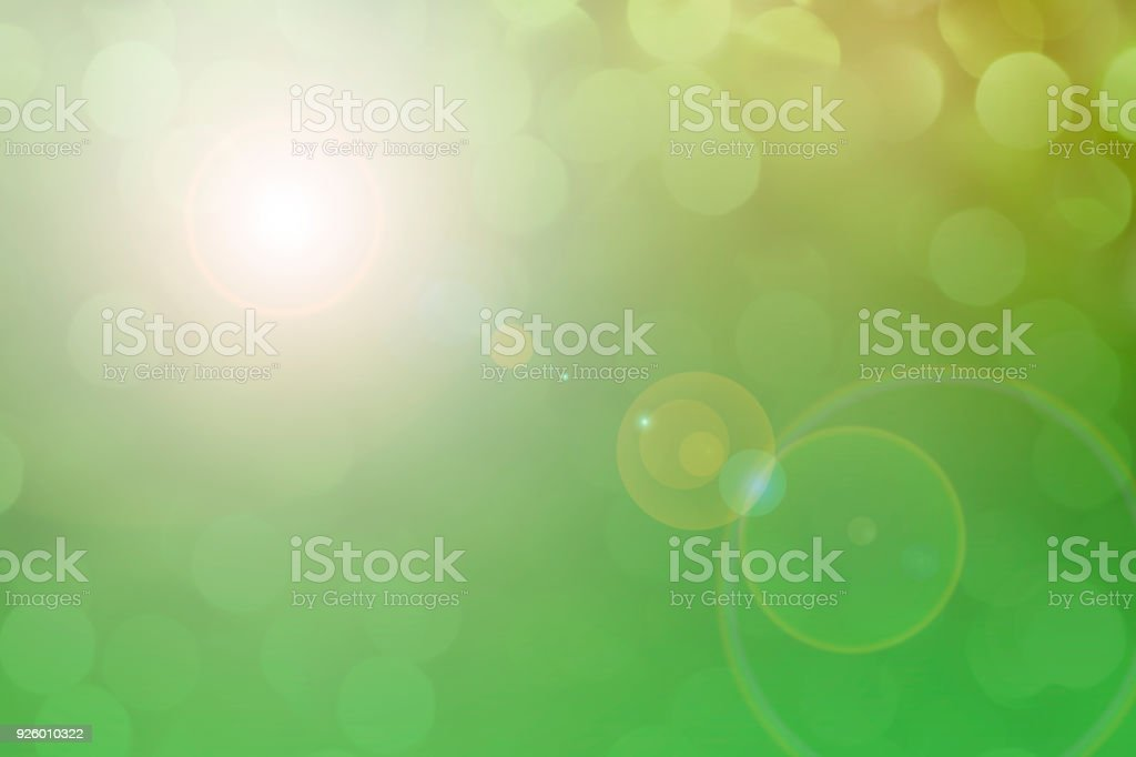 Soft green pastel colored lights for Easter or spring season. stock photo