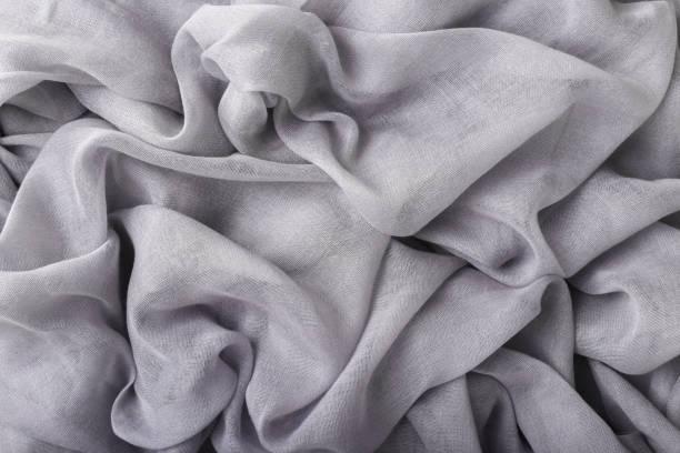 Weiches grau zerbröckeltes Baumwollgewebe – Foto
